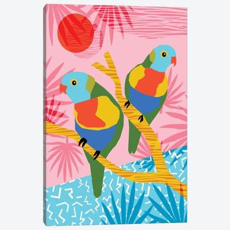 Besties Canvas Print #WDE12} by Wacka Designs Canvas Artwork