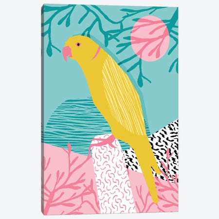 Birdbrain Canvas Print #WDE13} by Wacka Designs Canvas Art