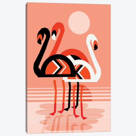 Flamingo Canvas Print #WDE33} by Wacka Designs Canvas Artwork