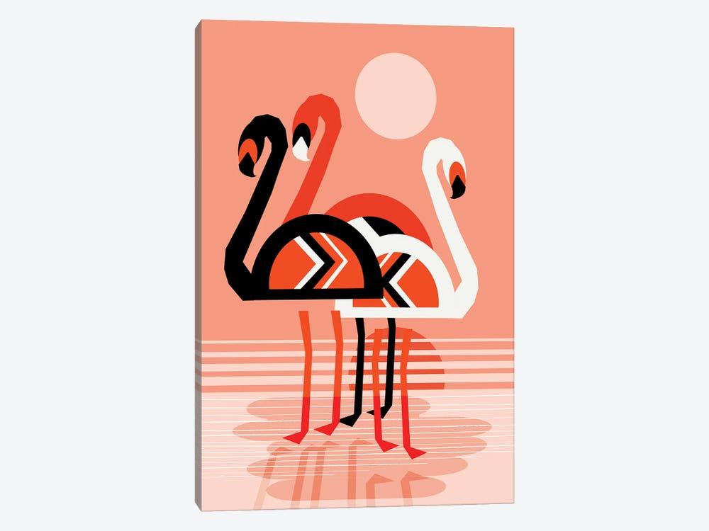 Flamingo by Wacka Designs 1-piece Canvas Art