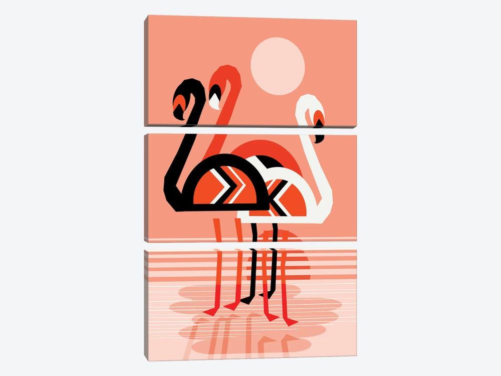 Flamingo by Wacka Designs 3-piece Canvas Artwork