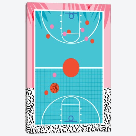 Hoops Canvas Print #WDE41} by Wacka Designs Canvas Print