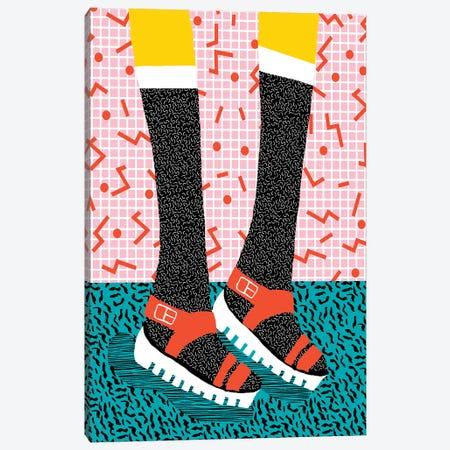 Kicks Canvas Print #WDE47} by Wacka Designs Canvas Art