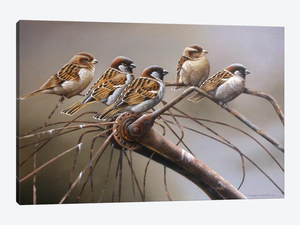 Birds On A Broken Bicycle by Jan Weenink 1-piece Canvas Art