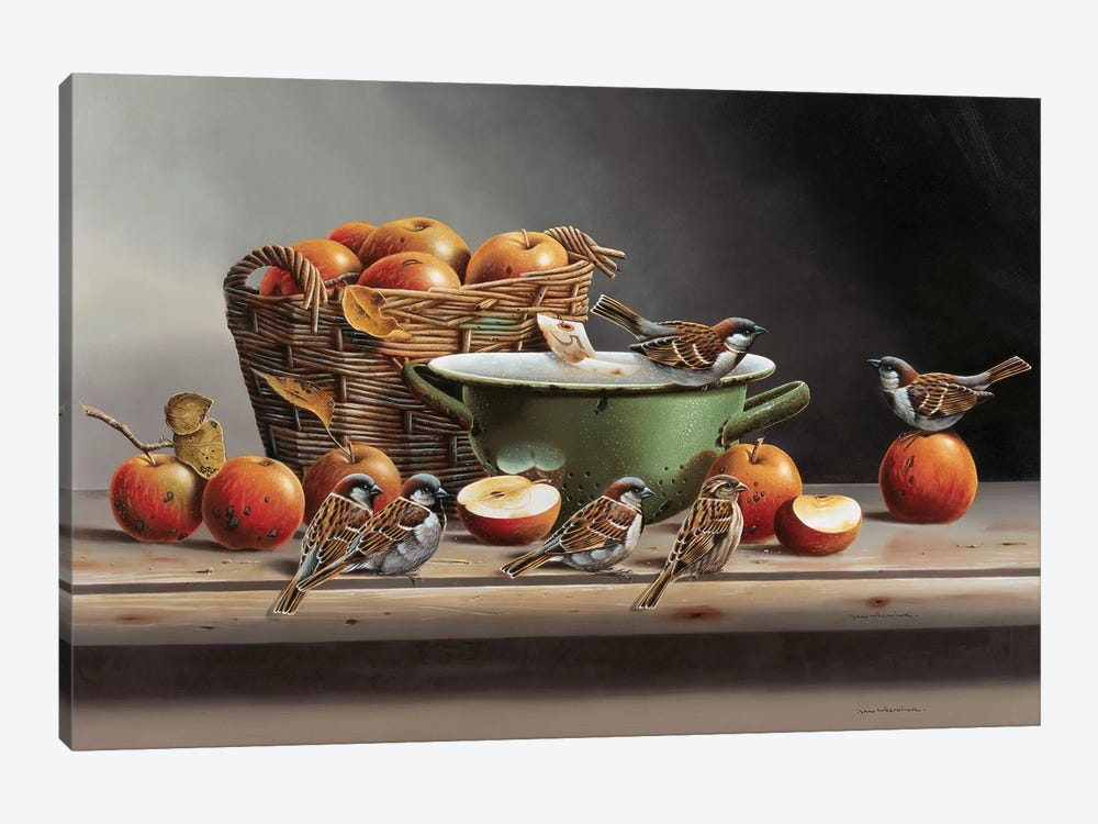 House Sparrows II by Jan Weenink 1-piece Canvas Print