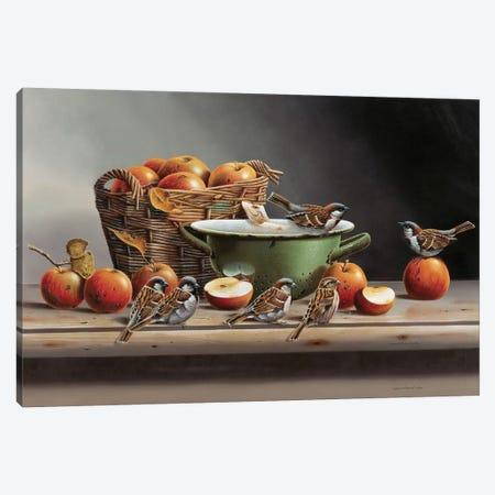 House Sparrows II Canvas Print #WEE25} by Jan Weenink Canvas Print