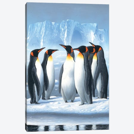 Penguins Canvas Print #WEE32} by Jan Weenink Art Print