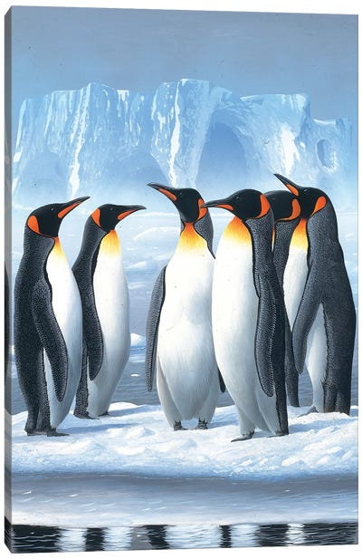Penguins Canvas Art Print