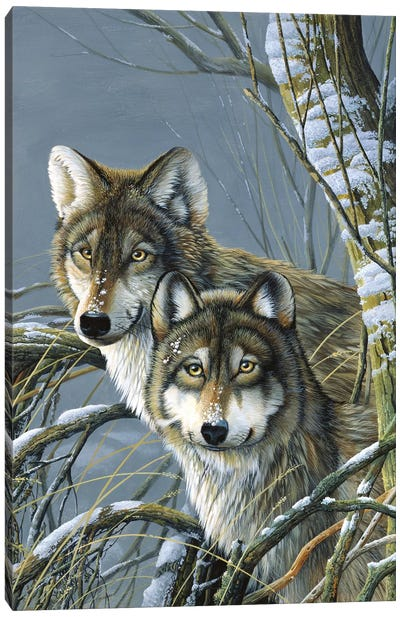 Two Wolves Canvas Art Print