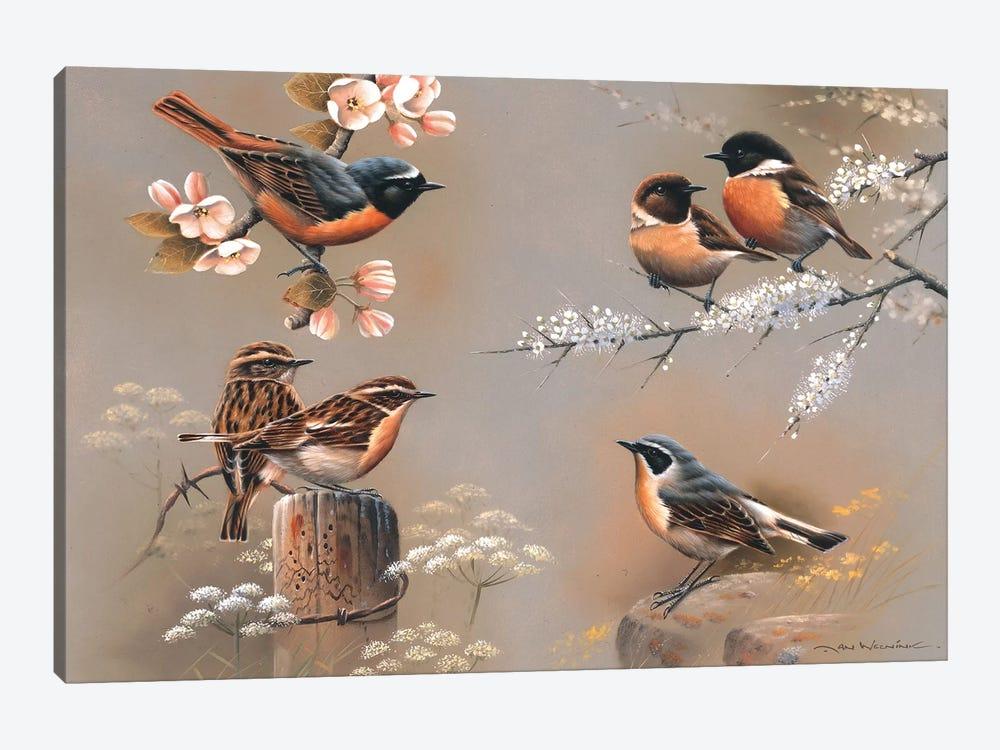 Bird Composition by Jan Weenink 1-piece Canvas Artwork