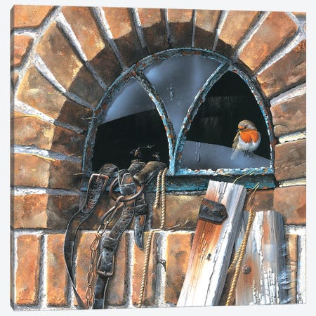 Bird In A Window Canvas Print #WEE8} by Jan Weenink Canvas Print