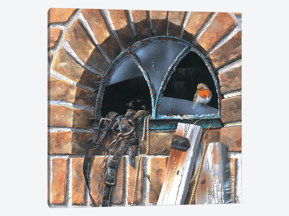 Bird In A Window by Jan Weenink 1-piece Canvas Artwork