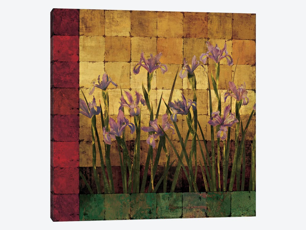 Iris Garden 1-piece Canvas Wall Art