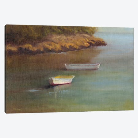 Harbored Dories I Canvas Print #WEN10} by Marilyn Wendling Canvas Art