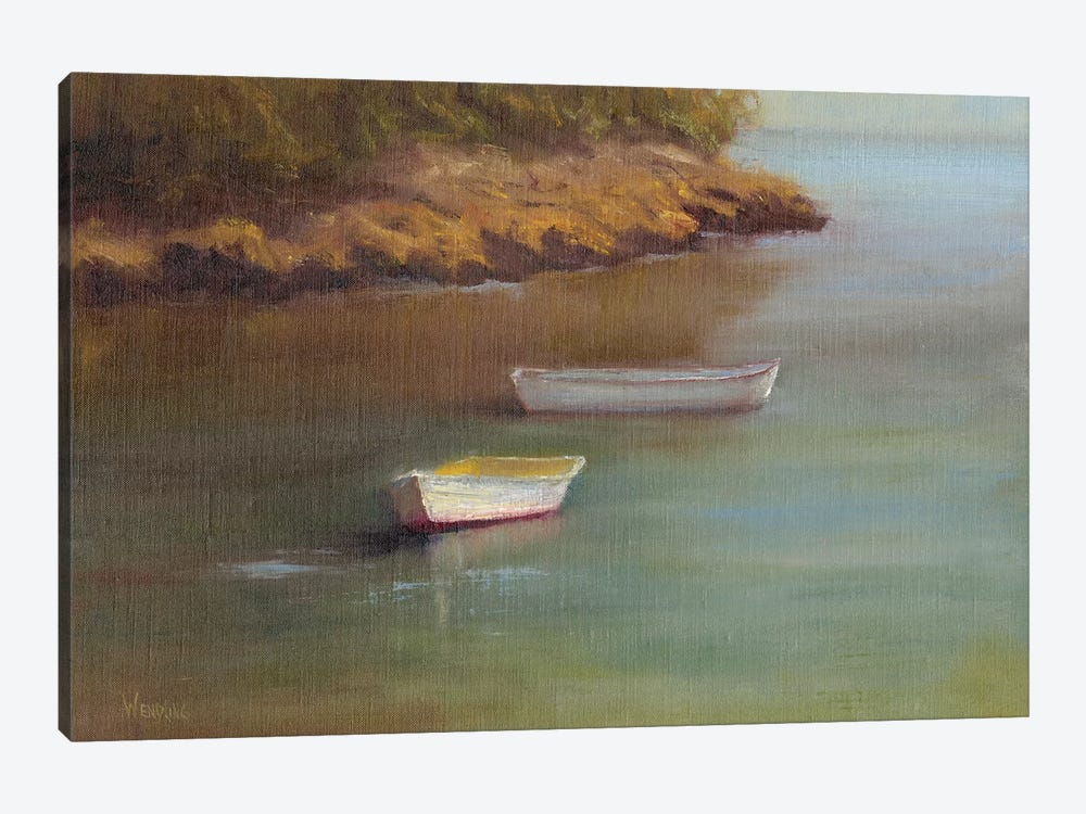 Harbored Dories I by Marilyn Wendling 1-piece Canvas Artwork