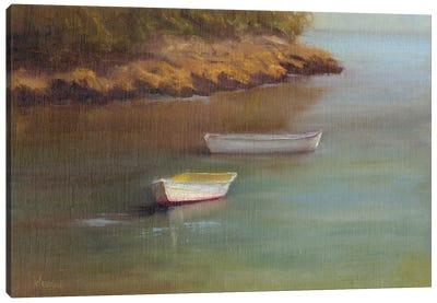 Harbored Dories I Canvas Art Print