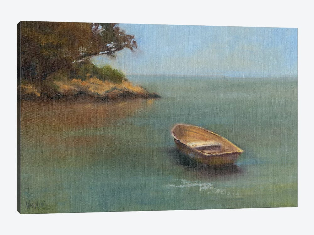 Harbored Dories II by Marilyn Wendling 1-piece Art Print