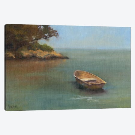 Harbored Dories II Canvas Print #WEN11} by Marilyn Wendling Canvas Art