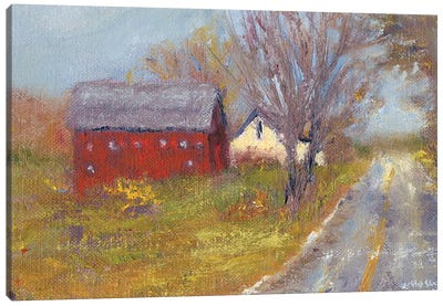 Back Road Barn I Canvas Art Print