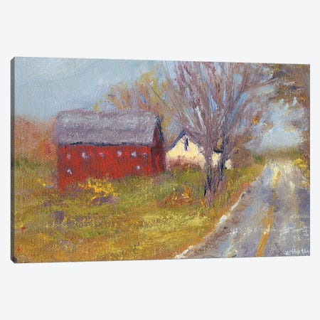 Back Road Barn I Canvas Print #WEN15} by Marilyn Wendling Canvas Print