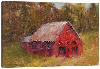 Back Road Barn II Canvas Art Print