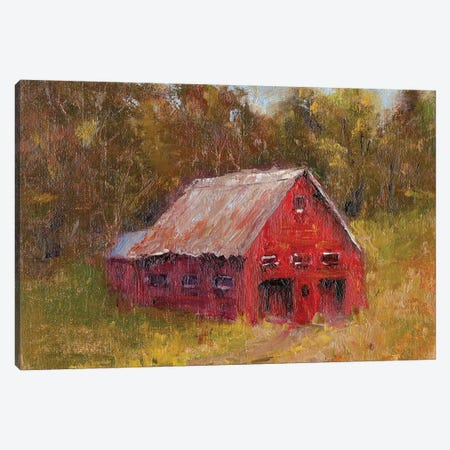 Back Road Barn II Canvas Print #WEN16} by Marilyn Wendling Canvas Print