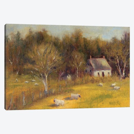 Cottage Meadow I Canvas Print #WEN19} by Marilyn Wendling Canvas Art