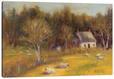 Cottage Meadow I Canvas Art Print