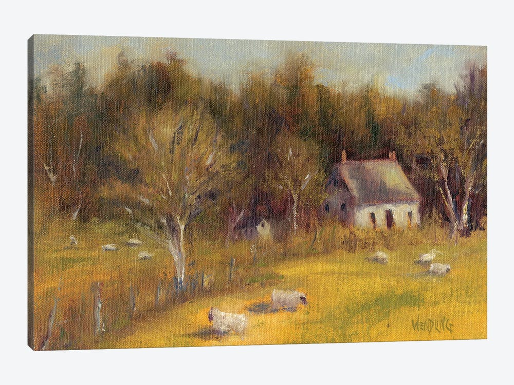 Cottage Meadow I by Marilyn Wendling 1-piece Canvas Print