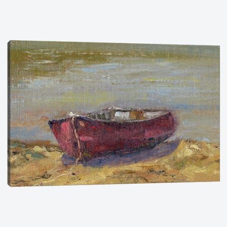 Beached Red Canvas Print #WEN1} by Marilyn Wendling Canvas Wall Art