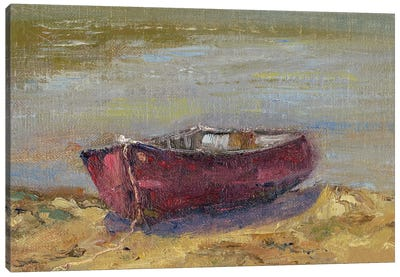 Beached Red Canvas Art Print