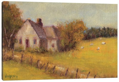 Cottage Meadow II Canvas Art Print