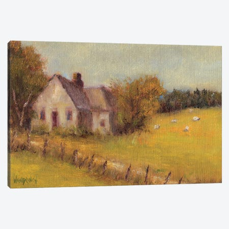 Cottage Meadow II 3-Piece Canvas #WEN20} by Marilyn Wendling Canvas Art Print