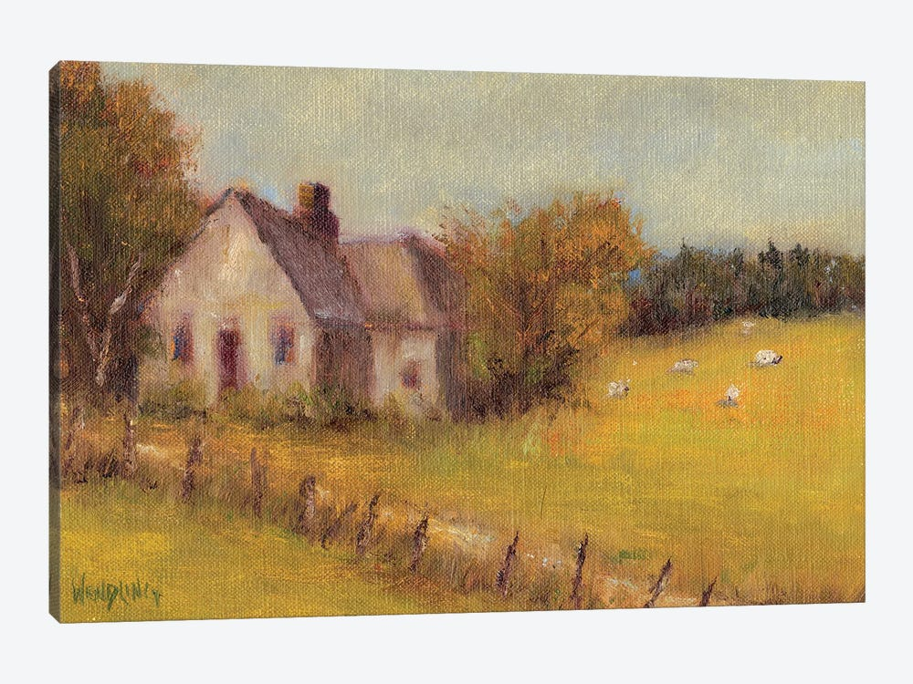 Cottage Meadow II by Marilyn Wendling 1-piece Canvas Art Print