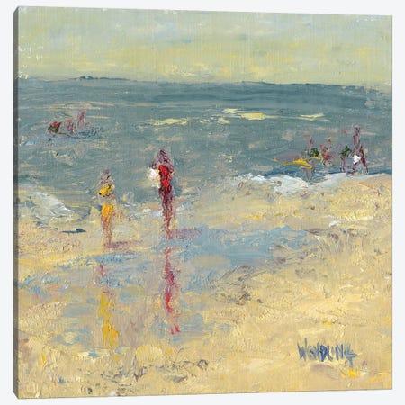 Impasto Beach Day I Canvas Print #WEN23} by Marilyn Wendling Canvas Art Print