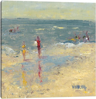 Impasto Beach Day I Canvas Art Print