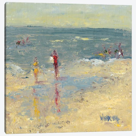 Impasto Beach Day I Canvas Print #WEN23} by Marilyn Wendling Canvas Art Print