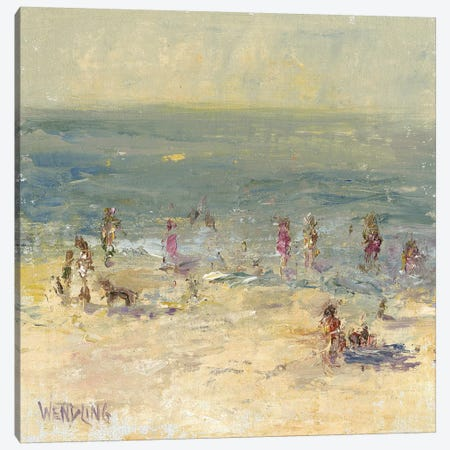 Impasto Beach Day II Canvas Print #WEN24} by Marilyn Wendling Canvas Artwork