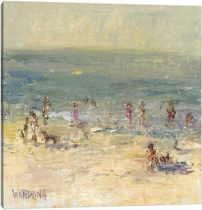 Impasto Beach Day II Canvas Art Print