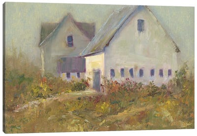 White Barn I Canvas Art Print