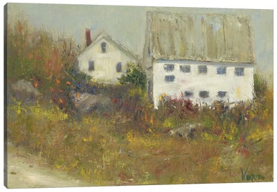 White Barn II Canvas Art Print