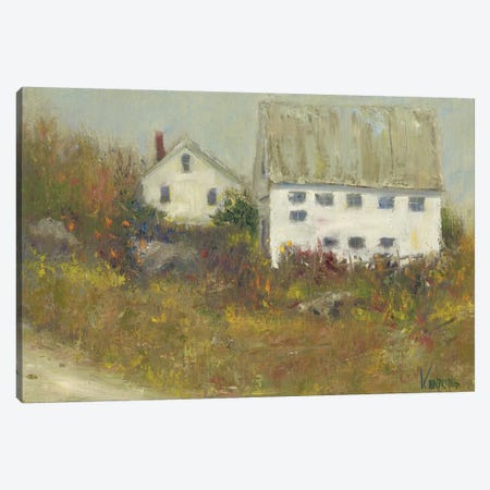 White Barn II Canvas Print #WEN26} by Marilyn Wendling Canvas Art