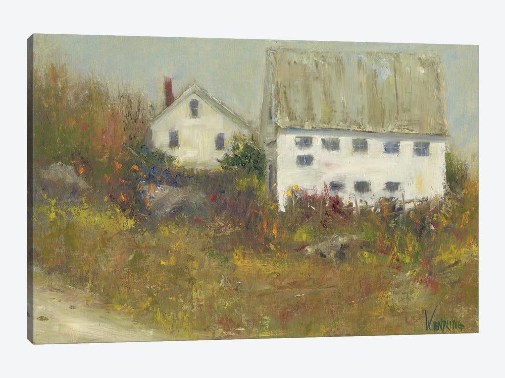 White Barn II by Marilyn Wendling 1-piece Art Print