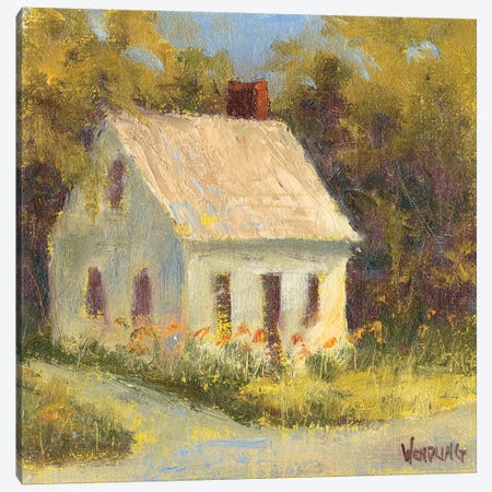 Sweet Cottage I Canvas Print #WEN27} by Marilyn Wendling Canvas Artwork