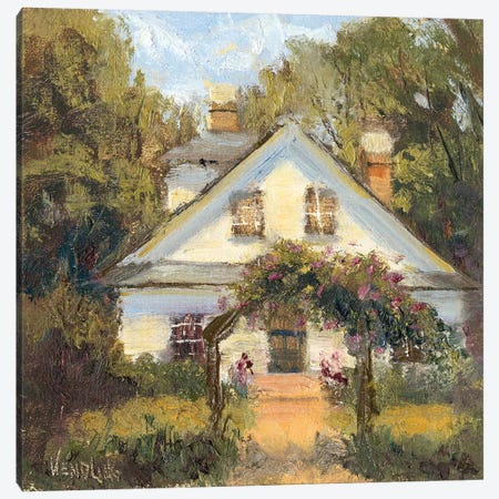 Sweet Cottage II Canvas Print #WEN28} by Marilyn Wendling Canvas Print