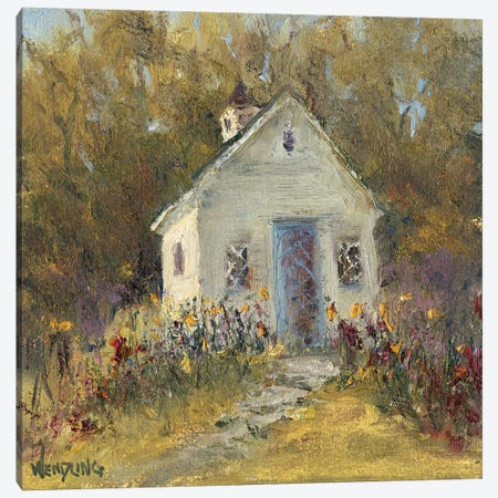 Sweet Cottage III Canvas Print #WEN29} by Marilyn Wendling Canvas Art Print