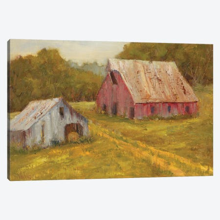 Country Barns Canvas Print #WEN2} by Marilyn Wendling Canvas Artwork