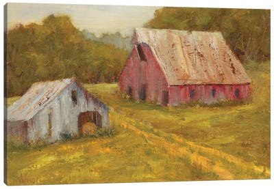 Country Barns Canvas Art Print