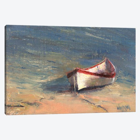 Beached Boat I Canvas Print #WEN30} by Marilyn Wendling Canvas Wall Art