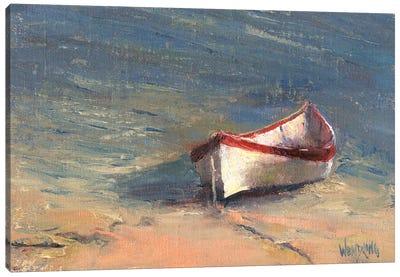 Beached Boat I Canvas Art Print